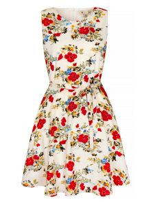 Yumi Wildflower Print Skater Dress