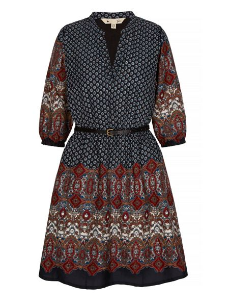 Yumi Tapestry Print Kaftan Dress