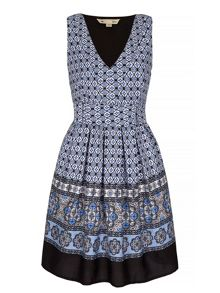 Yumi Mosaic Print Day Dress