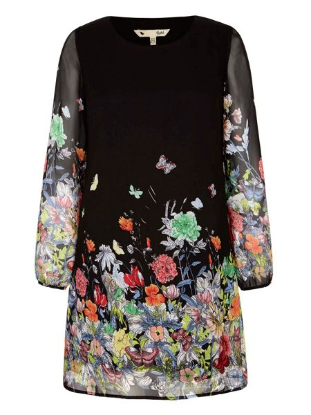 Yumi Flower and Butterfly Print Tunic