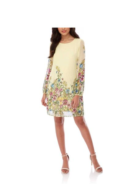 Yumi Wildflower Print Tunic Dress
