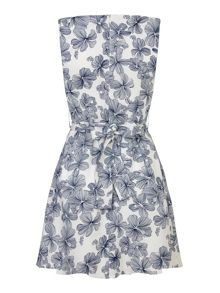 Mela Loves London Tropical Floral Print Skater Dress