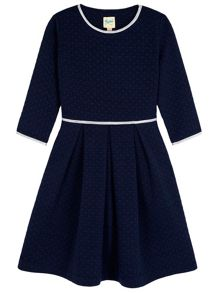Yumi Girls Quilted Heart Skater Dress