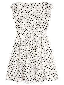 Yumi Girls Heart Printed Day Dress