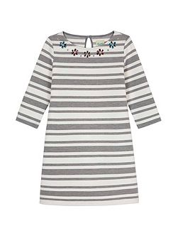 Striped Gemstone Tunic Dress