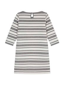 Yumi Girls Striped Gemstone Tunic Dress