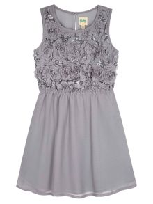 Yumi Girls Rose Sparkle Party Dress