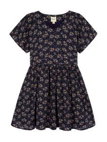 Yumi Girls Ditsy Floral Print Day Dress