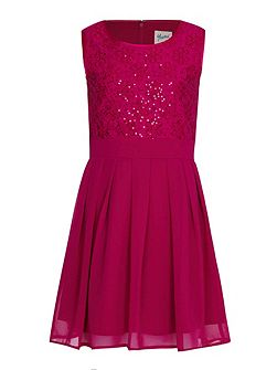 Sequin Floral Lace Party Dress