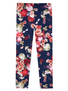 Yumi Girls Flower Print Leggings