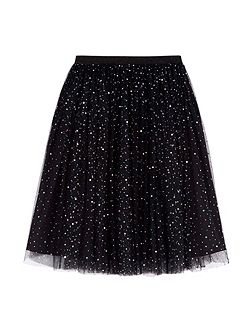 Sequin Sparkle Skater Skirt