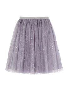 Yumi Girls Sequin Sparkle Skater Skirt