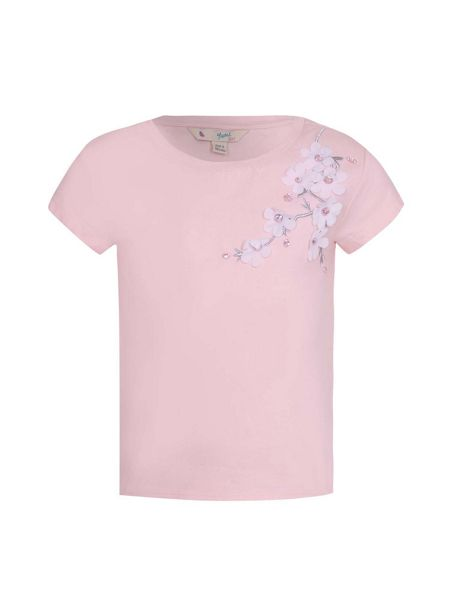 Yumi Girls Floral Embellished Tee