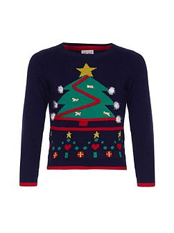 Christmas Tree Pom Pom Jumper