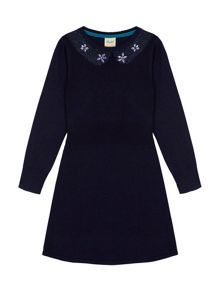 Yumi Girls Embellished Collar Jumper Dress