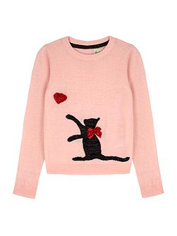 Cat Embellishment Jumper