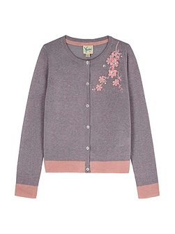 Flower Embellishment Cardigan