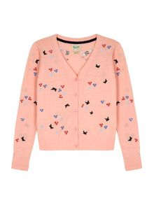 Yumi Girls Butterfly Knit Cardigan
