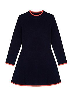 High Neck Knitted Skater Dress