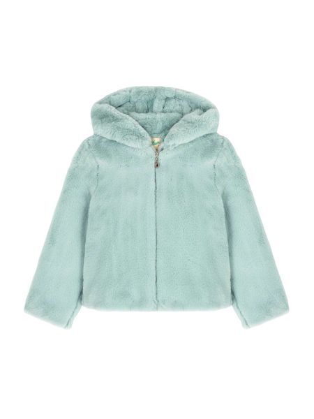 Yumi Girls Hooded Faux Fur Jacket