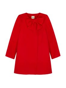 Yumi Girls Swing Coat With Bow
