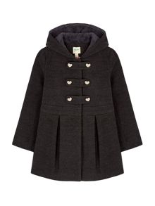 Yumi Girls Duffle Peplum Hooded Coat