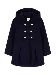 Yumi Girls Duffle Peplum Coat With Coat