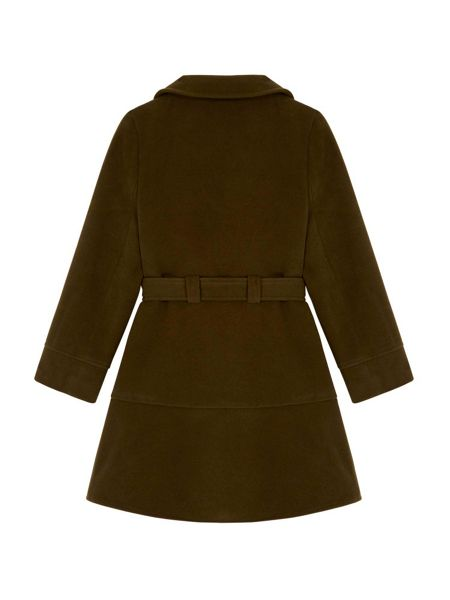 Yumi Girls Peplum Coat With Belt