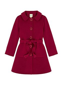 Peplum Coat With Belt