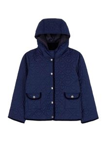 Yumi Girls Heart Tile Quilted Jacket