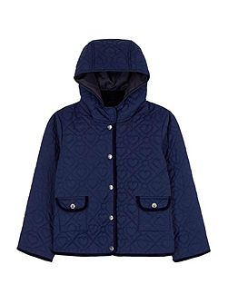 Heart Tile Quilted Jacket