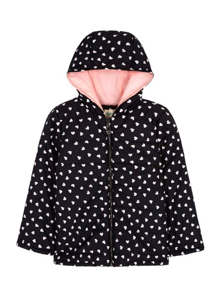 Yumi Girls Padded Heart Print Jacket