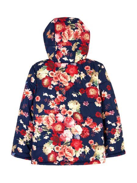 Yumi Girls Flower Print Padded Jacket