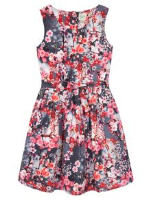 Uttam Cherry Blossom Skater Dress