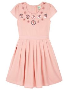 Yumi Girls Sequin Embellished Party Dress
