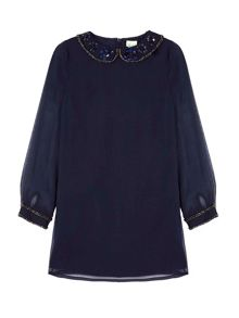 Yumi Girls Sequin Embellished Shift Dress