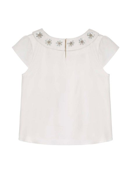 Yumi Girls Floral Embellished Top