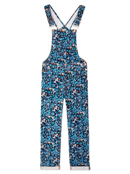 Yumi Girls Dungarees With Butterfly Print