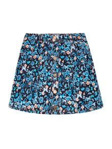 Yumi Girls Skirt With Woodland Butterly Print