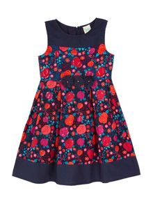 Yumi Girls Cotton Rose Printed Dress