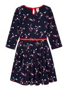 Yumi Girls Butterfly Print Jersey Dress