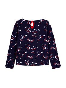 Yumi Girls Butterfly Printed Long Sleeve Top