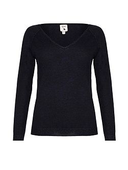 Black Jumper With Lurex Knit