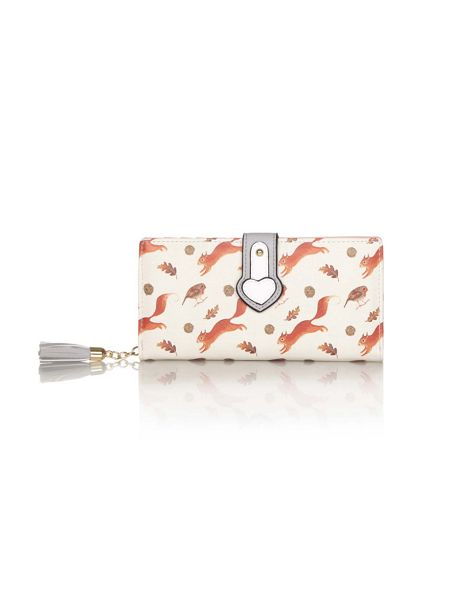 Yumi Squirrel Print Tassel Wallet