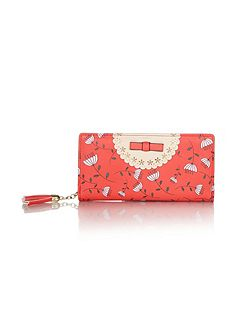 Floral Print Bow Wallet