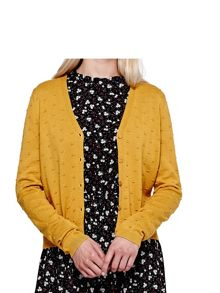 Yumi Stitched V Neck Cardigan