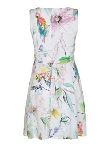 Mela London Painted Tropical Print Day Dress