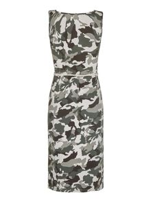 Mela Loves London Camouflage Print Midi Dress