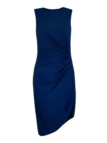 Mela London Blue Ruched Dress