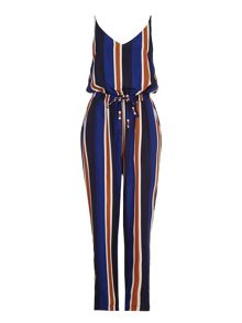 Mela London Multi Stripe Print Jumpsuit